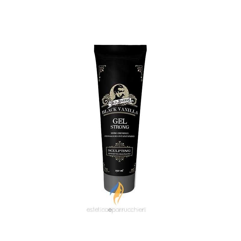 OLD BARBERS GEL STRONG Black Vanilla Gel Capelli Fissaggio Istantaneo 250ml