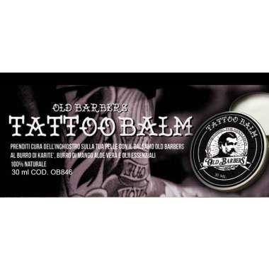 OLD BARBERS TATTOO BALM Balsamo per Tatuaggi con Burro di Karite' Aloe Vera e Olii Essenziali