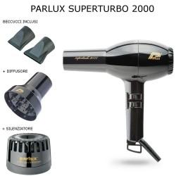 PARLUX SUPERTURBO 2000 1440 WATT PHON PROFESSIONALE 2 BECCUCCI DIFFUSORE E SILENZIATORE