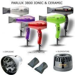 PARLUX 3800 IONIC & CERAMIC 2100 WATT PHON PROFESSIONALE 2 BECCUCCI DIFFUSORE E SILENZIATORE