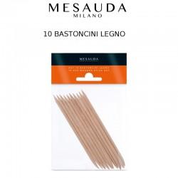 MESAUDA MILANO Set 10 Bastoncini Legno per Unghie Nail Art
