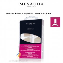 MESAUDA MILANO 100 TIPS FRENCH SQUARE Colore Naturale