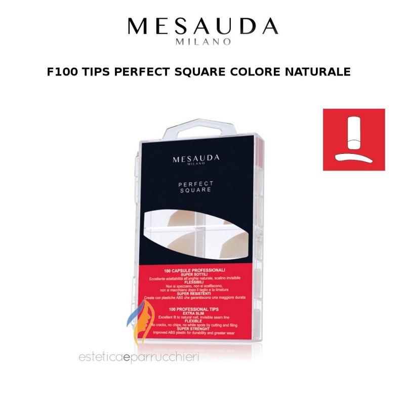MESAUDA MILANO 100 TIPS PERFECT SQUARE Colore Naturale