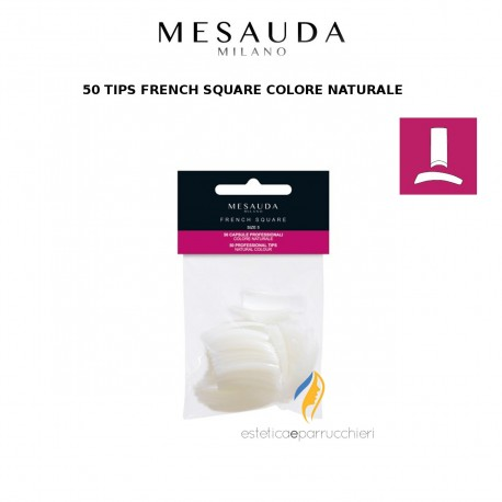 MESAUDA MILANO 50 TIPS FRENCH SQUARE