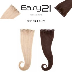 EUROSOCAP CLIP-ON 4 CLIPS Extension Capelli Naturali Seiseta 50-55 CM