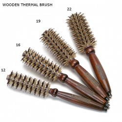 WOODEN THERMAL BRUSH MM12