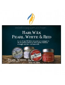 OLD BARBERS HAIR WAX PEARL WHITE E RED Cera ad Acqua per Capelli Professionale 100 ml