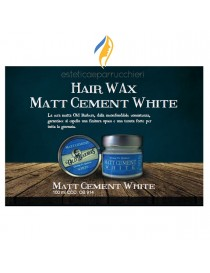 OLD BARBERS HAIR WAX CERA MATT CEMENT WHITE Cera ad Acqua per Capelli Professionale 100 ml