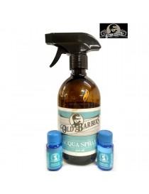 OLD BARBERS Spruzzatore d'acqua con Bottiglia + 2 Essenze Profumate Professionale