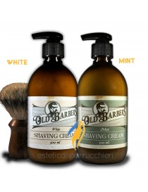 OLD BARBERS SHAVING CREAM Crema da Pennello Professionale per una Facile Rasatura 500 ml