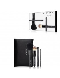 MESAUDA MILANO STAPLE BRUSH Mini Set di 4 Pennelli per Trucco Make Up Professionali