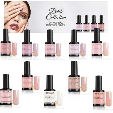 MESAUDA MILANO MNP Bride Collection Universal Base e Color Smalto Gel Polish Professionale