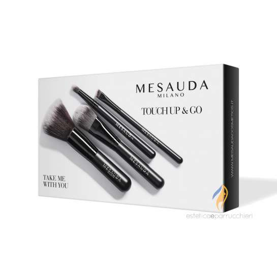 MESAUDA MILANO TAKE ME WITH YOU - TOUCH UP & GO Set Pennelli Viso e Occhi Professionale
