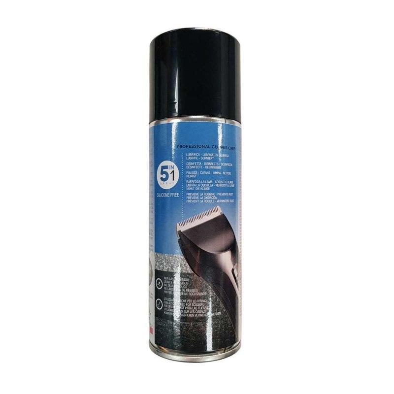 GAMMAPIU' SPRAY OIL Lubrificante Igienizzante Professionale 5 in 1 per Tagliacapelli